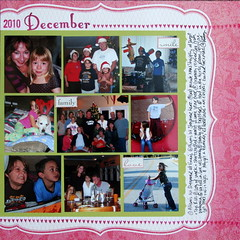 December 2010 Scrapbook Layout
