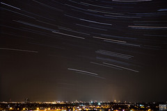 Star-trails above Groningen