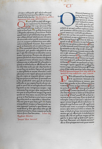 Fortalitium fidei: text with red and blue coloured initials