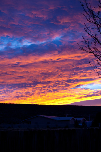 pink blue winter red sky newmexico yellow sunrise season landscape december beginning prelude