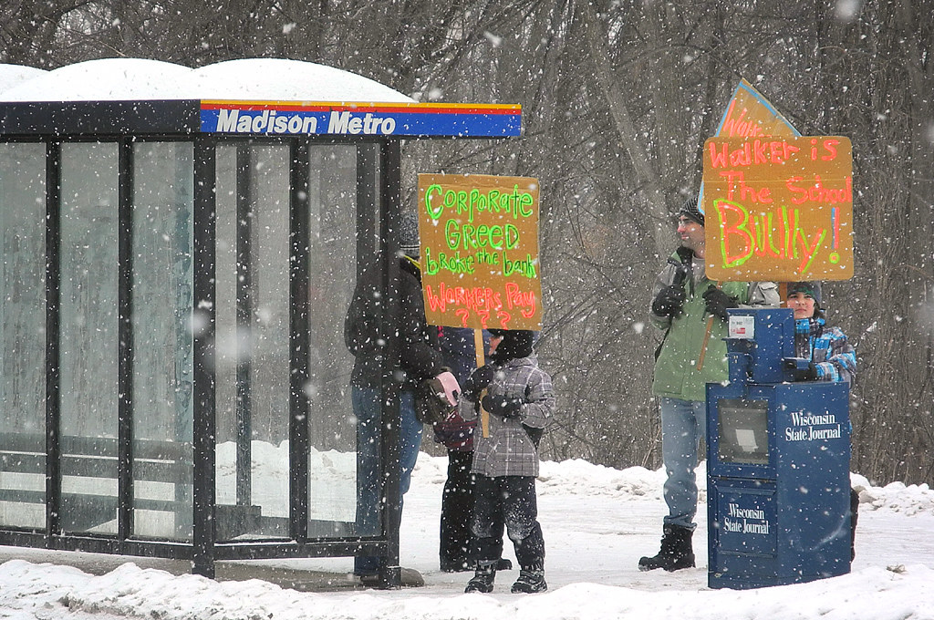 Snowy Saturday In Madison Busing To >> Snowy Saturday In Madison Busing To The Revolution Flickr