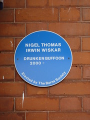 Photo of Nigel Thomas Irwin Wiskar blue plaque