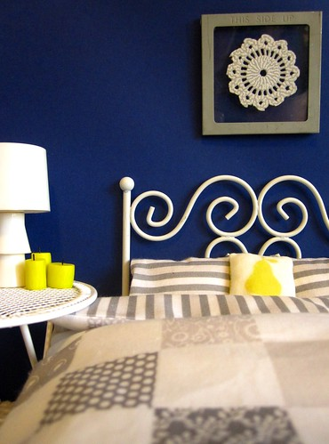 Blue Bedroom With Doona Cover And Pillow Cases Made From