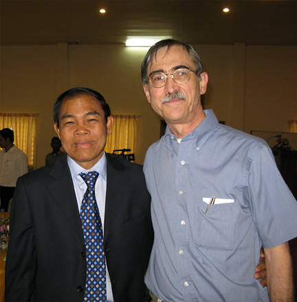 Governor Ouen and Michael Tomlan