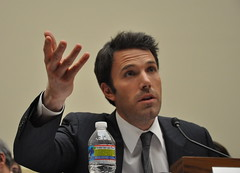 Ben Affleck testifying to Congress on the Democratic Republic of Congo.