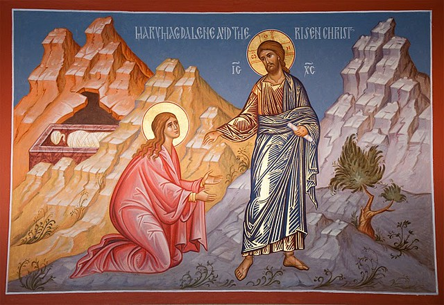 St. Mary Magdalene & the Risen Christ from Flickr via Wylio