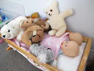 Lucy's dolls and teddies