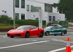 ferrari 458(0.0), automobile(1.0), wheel(1.0), vehicle(1.0), performance car(1.0), automotive design(1.0), ferrari f430(1.0), land vehicle(1.0), luxury vehicle(1.0), supercar(1.0), sports car(1.0),