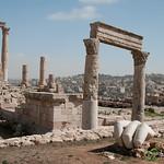 The Ancient Hand of Hercules - Citadel in Amman, Jordan