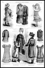 1881 Vintage Fashion Plates - The Young Ladies Journal No.25