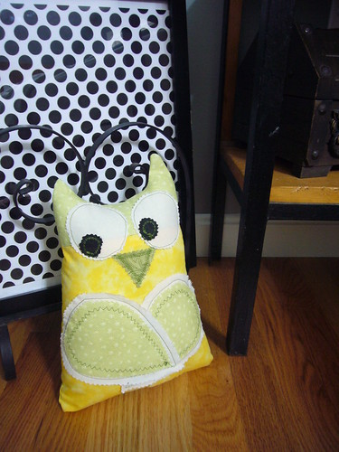 stuffed owl pillow