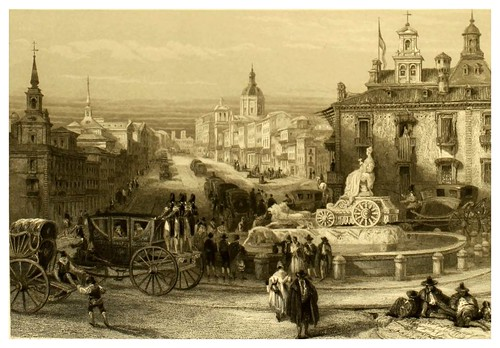 005- Calle de Alcala en Madrid-Picturesque views in Spain and Morocco…Tomo II-1838-David Roberts