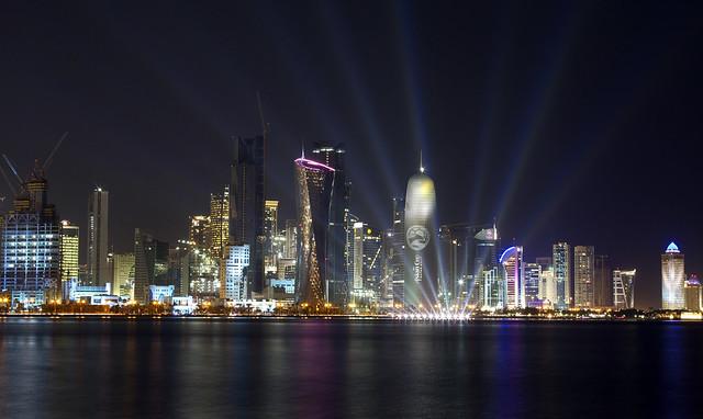 Doha Qatar Skyline Asian Cup 2011 Flavour | Spotlights on th ...