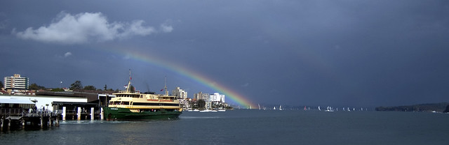 A Rainbow over Manly Wharf