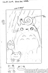 sketch for bento #52: Rainy day Totoro