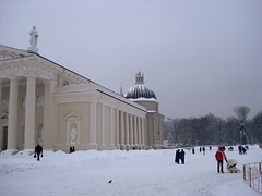 Vilnius cathedral square, Lithuania