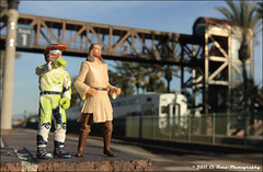 Railfaning is Best Done with Friends - James Stewart and Qui-Gon Jinn Hit Fullerton