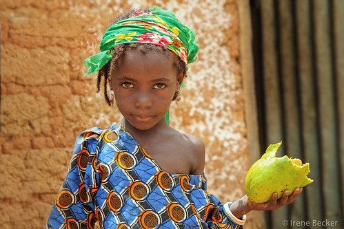 Fulani Girl with Mango