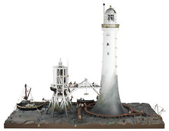 Model Of The Bell Rock Lighthouse Under Construction