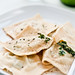 Fresh spinach and ricotta ravioli