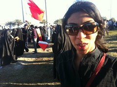 Journalist Nazeeha Saeed at the Pearl Roundabout