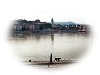 Walk in the Danube with the silence ...Alkonyi csendes séta a Duna parton