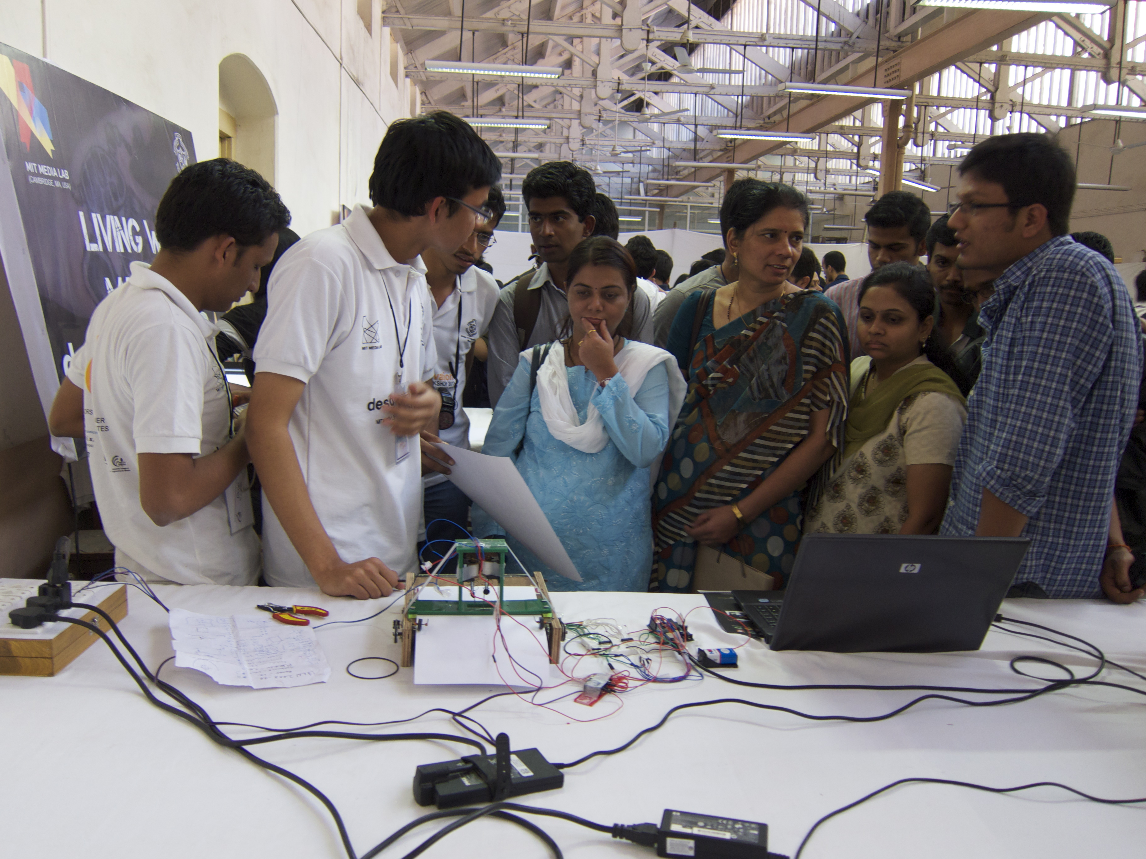 A braille printer is displayed in India