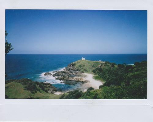 blue sea lighthouse beach port fuji wide australia macquarie instax
