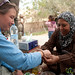 Receiving an Olive Seed Bracelet - Zikra Initiative at Ghor al Mazra'a in Jordan
