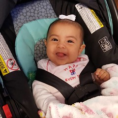 One of my longtime patient Carmen's daughter Nadia. Such a sweetie pie. ❤ 💜 💚 💛  #babygirl #infant #adorable #preciousmoments