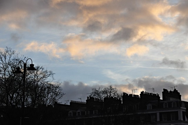 DSC_0286 Sunset in Knightsbridge Kensington London