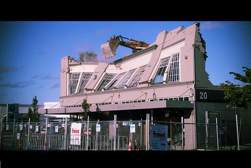 original christchurch restaurant earthquake demolition lonestar demolished manchesterstreet