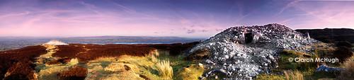 ireland panorama cemetery sligo passagetomb carrowkeel