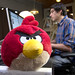 Red Angry Bird Stands Guard Over Josh at Instagram