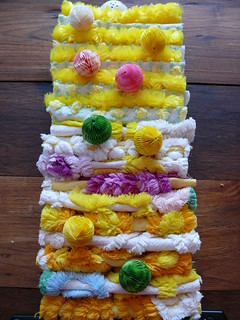 Yellow Inspired Vintage Chenille Squares