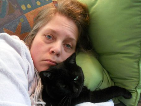 Sick day, with Lucy--Daily Image 2011--February 1