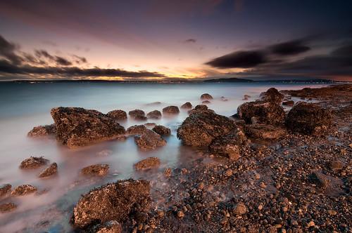 seattle sunset sea beach water washington rocks shore alki pugetsound
