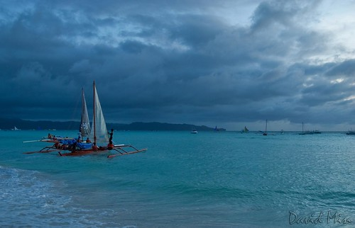 Boracay Island, Philippines - Stormy day @White Beach