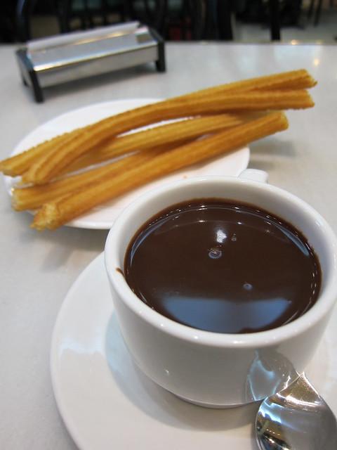 Churros at Chocolateria San Ginesa