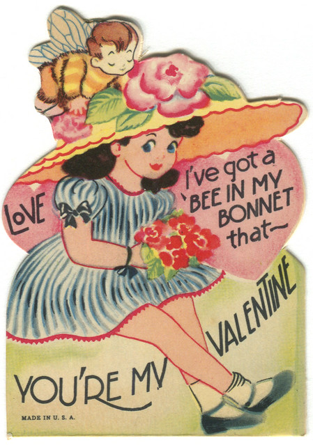 vintage valentine: bee bonnet