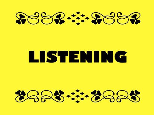Buzzword Bingo: Listening