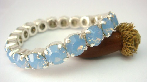 Swarovski Tennis Bracelet in Air Blue Opal