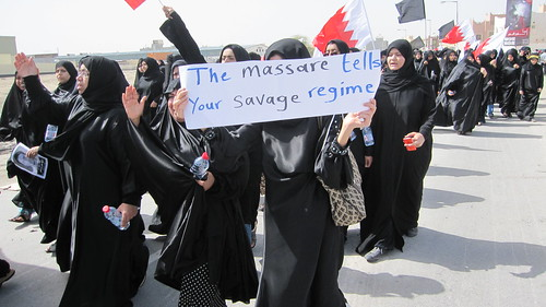Protesting mourners