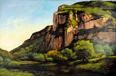 Gustave Courbet - Rocks at Mouthier at Phillips Collection Art Gallery Washington DC