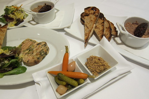 Pork Rillette, Chicken Foie Gras Terrine, Grilled Bread, Pickled Vegetables, Salad