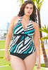Ravishing Rip Tide Plus Size Halter Tankini by Beach Belle®