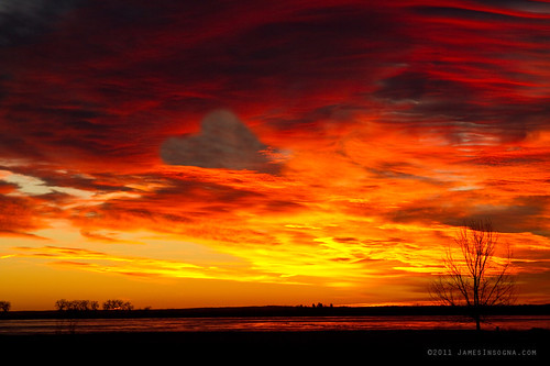 Valentines Day Sunrise Love in the Clouds Nature Image