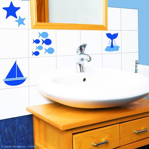 Mi casa decoracion adhesivos para azulejos bano for Adhesivos neveras decoracion