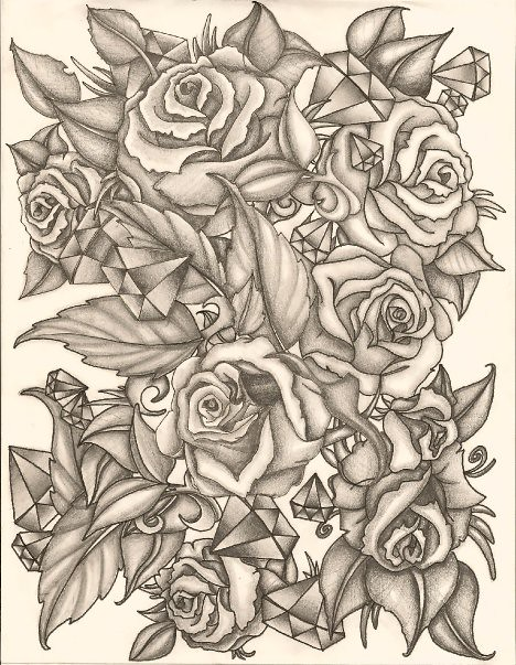 rose sketch flickr photo sharing. Black Bedroom Furniture Sets. Home Design Ideas