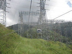 overhead power line, transmission tower, electricity, cable car, tower,